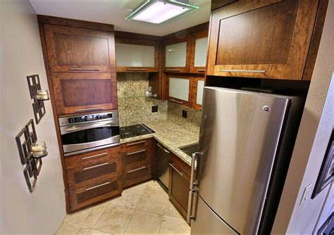 50 sq ft bathroom custom cabinetry granite and stainless steel appliances in only 50 sq ft tropical