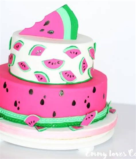 Top Watermelon Cakes   CakeCentral.com