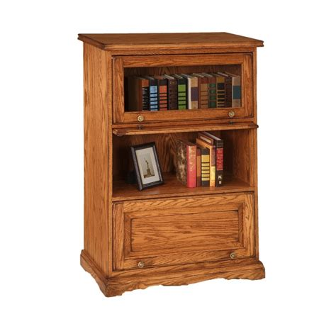 traditional barrister bookcase amish made traditional