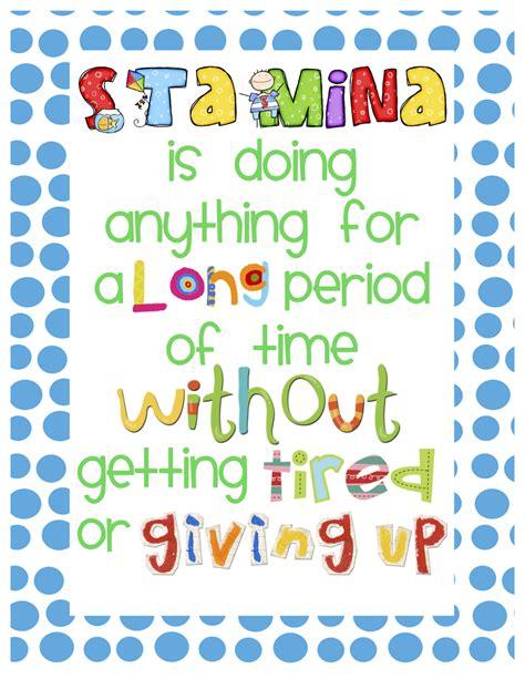 Printable Stamina Poster   what miss wants stamina