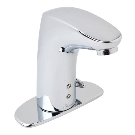 touchless bathroom sink faucet delta commercial battery powered single hole touchless