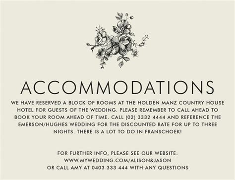 How To Block Rooms For A Wedding by Wording To Use When Giving Out Room Block Information To