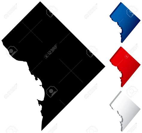 washington dc map silhouette dc capitol vector clipart best