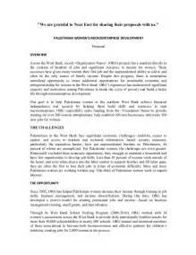 sample proposal on women s microenterprise development