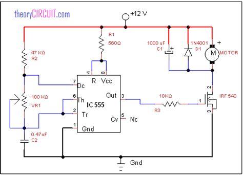 dc motor speed using ic 555