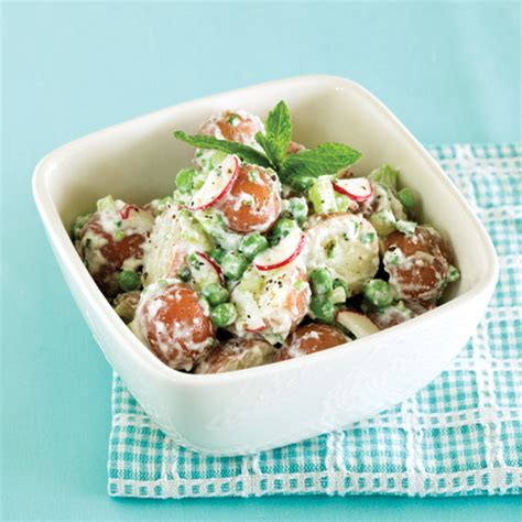 The Shed Potato Salad Recipe by Baby Potato Salad With Peas Mint Ricotta Clean