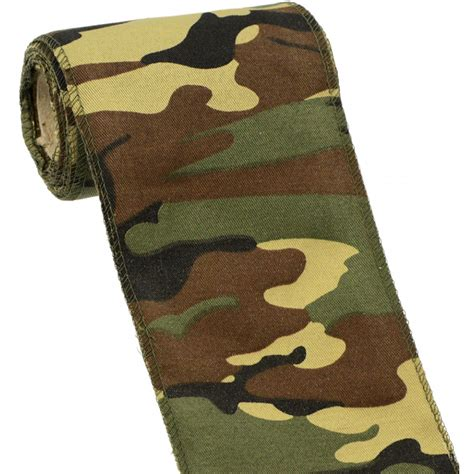 camouflage ribbon 4 quot camouflage fabric ribbon b35 0481 craftoutlet