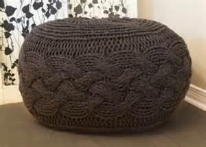 Knit Ottoman Pouf Pattern Diy Knitting Pattern Pouffe Footstool Ottoman