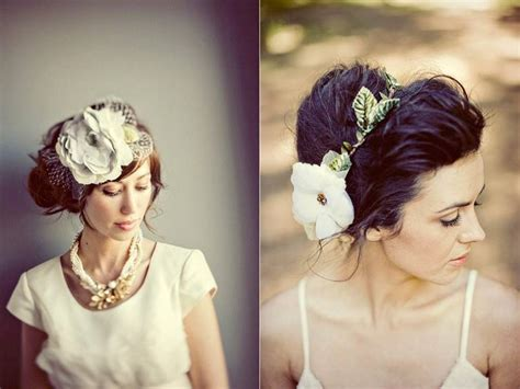 Handmade Wedding Headpieces - gorgeous handmade bridal hat and hair flower from etsy
