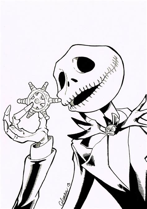 jack skellington nightmare before christmas coloring pages