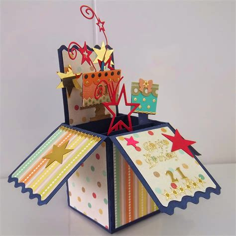 make a pop up birthday card critter cards pop up box card quot 21st birthday