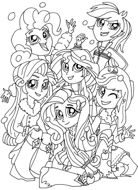 Free Printable My Little Pony Coloring Pages January 2016 My Pony Equestria Coloring