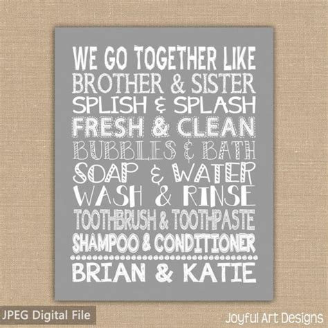 brother and sister in bathroom we go together like brother and sister bathroom sign