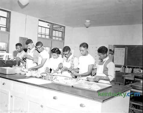 home economics class for boys 1949 kentucky photo archive