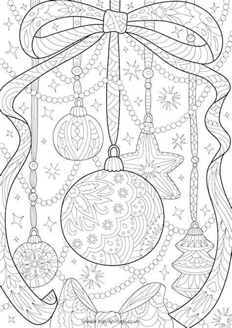 decorations colouring decorations doodle colouring page