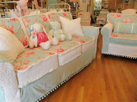 cottage chic slipcovered furniture vintage chenille bedspread slipcovers vintage chic
