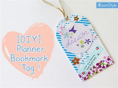 How To Make Girly Things Out Of Paper - diy planner bookmark tag