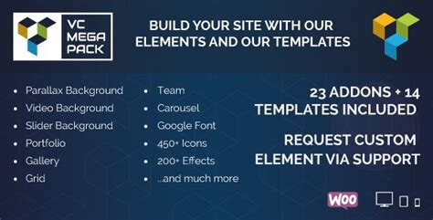 visual composer mega pack addons and templates