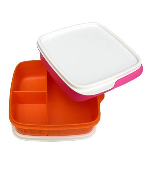 Tupperware Lunch Set tupperware multicolour plastic lunch box set of 2 buy at best price in india snapdeal
