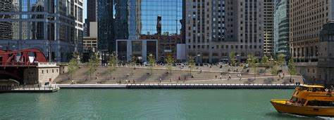 Waterfront Home Plans the chicago riverwalk reconnects the city with its waterfront