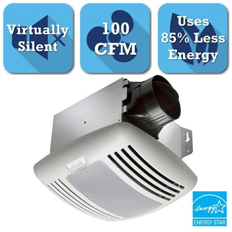 100 cfm bathroom fan with light delta breez greenbuilder series 100 cfm ceiling bathroom
