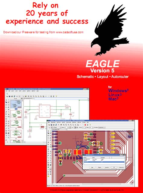 eagle layout editor 5 6 0 free download free download electronic software cadsoft eagle