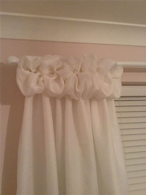 puffy curtains so happy with my first attempt at voile puff ball top