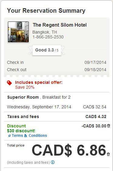 hotels.com coupons canada