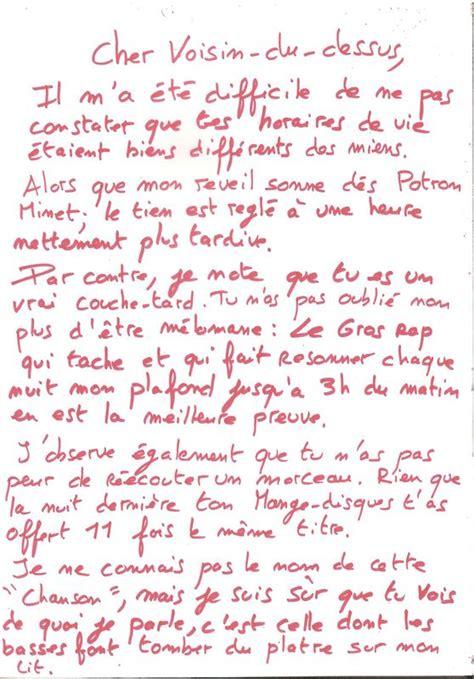 Modele De Lettre Voisin Bruyant Lettre 224 Mon Voisin Et B 234 Tisier Radio Fonds De Tiroirs Et Petits Carnets