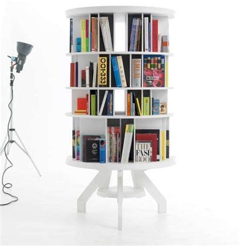 Kids Revolving Bookcase Space Saving Furniture Rotating Book Shelf
