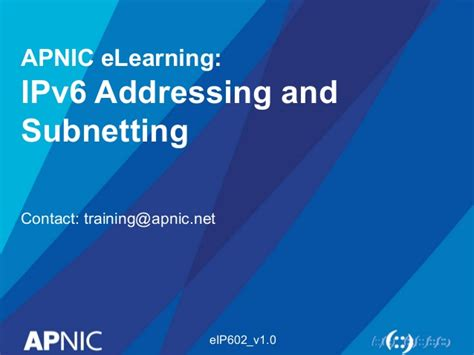 ipv6 subnetting tutorial ppt about ipv6
