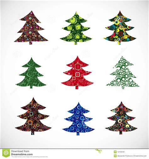 collection christmas fur tree stock image image 12130181