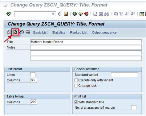sap query tutorial sq01 some tips on abap query sq01 part 2 sap blogs