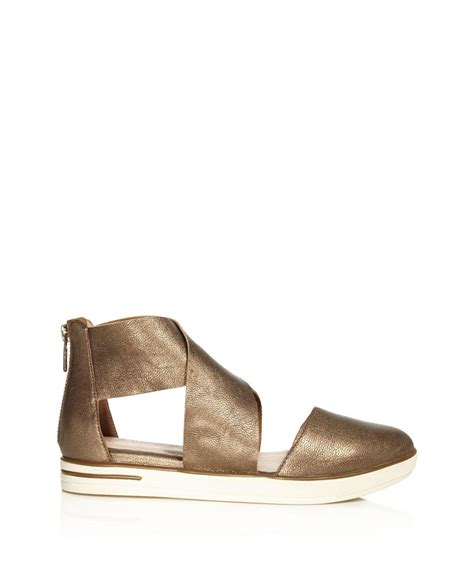 eileen fisher shoes lyst eileen fisher carver two metallic leather
