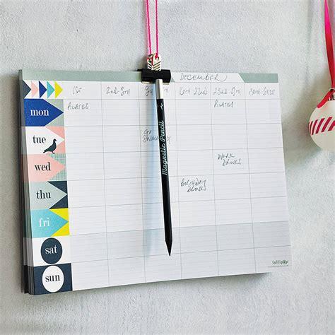 Weekly Desk Planner Pad by Weekly Planner Pad Pastel By Lollipop Designs