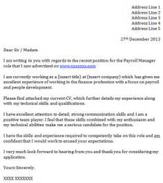 Payroll And Benefits Administrator Cover Letter by Payroll Manager Cover Letter Exle Icover Org Uk