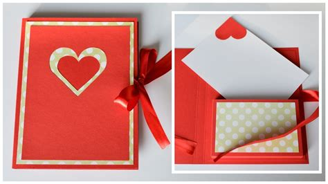 how to make card boxes how to make greeting card box valentines day step by