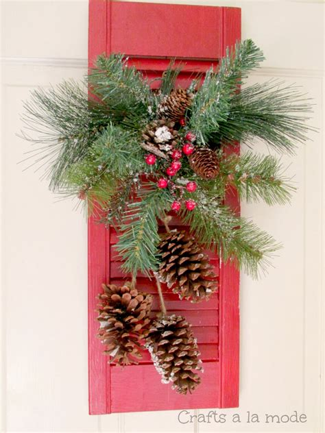 Decorating Ideas Using Shutters Shutter Door Decoration Crafts A La Mode