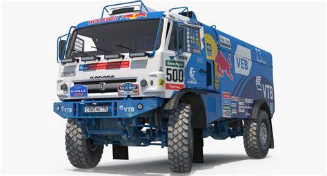 truck 3d racing 3d dakar racing truck kamaz turbosquid 1237398