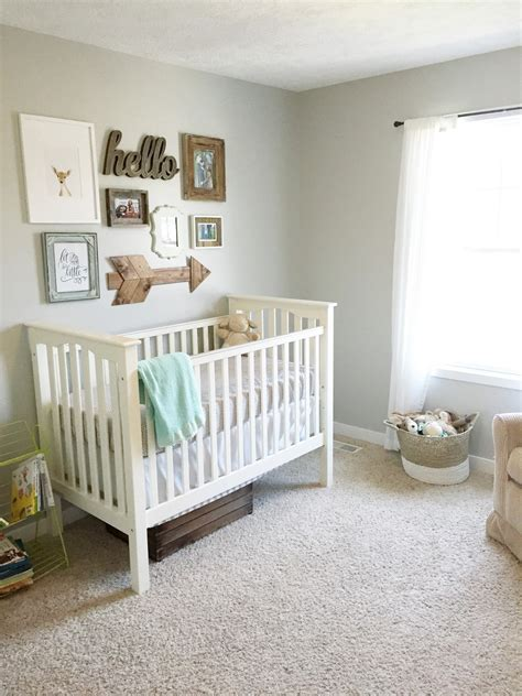 Gender Neutral Baby Bedding Ideas Gender Neutral Nursery Reveal The In The Shoes