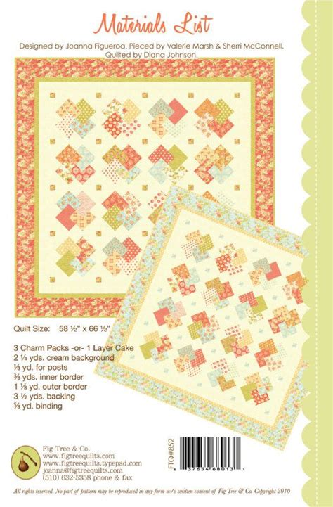 fig tree clovers quilt pattern free shipping with any