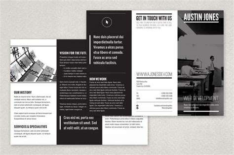 black brochure template a minimalist modern black and white brochure design that