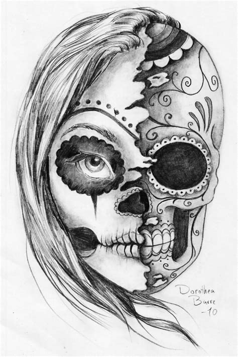 sugar skull lady tattoo designs 30 amazing evil designs