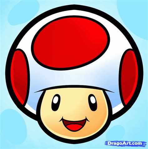 how to draw a easy how to draw toad easy step by step characters pop culture free
