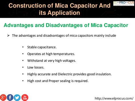 capacitor advantages construction of mica capacitor and its application