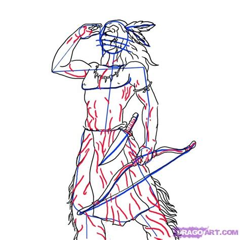 doodle how to make warrior how to draw a indian warrior step by step figures