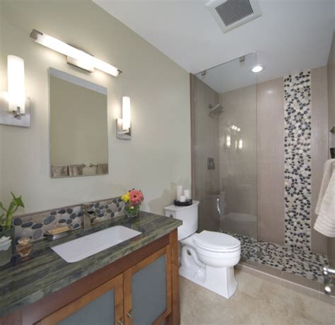river rock bathroom asian inspired river rock bathroom remodel this is an
