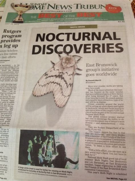 some recent nmw press coverage national moth week