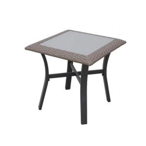 Home Depot Patio Accent Tables Hton Bay Corranade Metal Outdoor Accent Table Hd17548