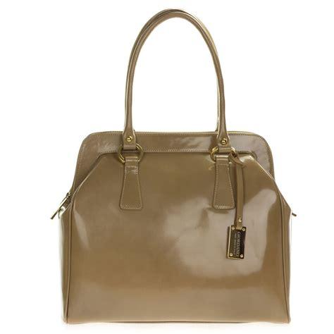 Giordano Original Leather giordano italian made beige glazed leather large satchel bag